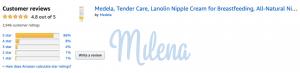 Review kem trị nứt đầu ty Medela