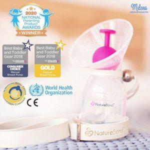 Cốc hứng sữa NatureBond đạt nhiều giải thưởng, tiêu chuẩn quốc tế uy tín